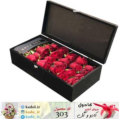 باکس گل رز مینا