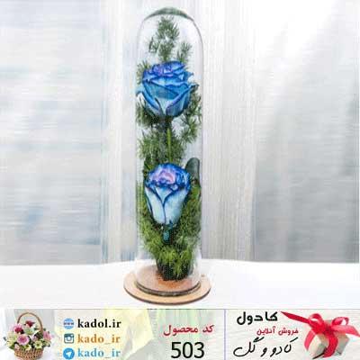 باکس گل شیشه ای هلیا