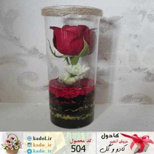 باکس گل شیشه ای هانا